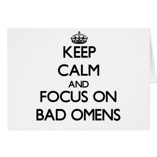 Keep Calm and focus on Bad Omens Greeting Cards