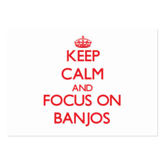 Keep Calm and focus on Banjos Business Card Template