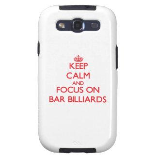 Keep calm and focus on Bar Billiards Galaxy S3 Cover
