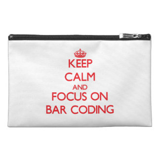 Keep Calm and focus on Bar Coding Travel Accessories Bags