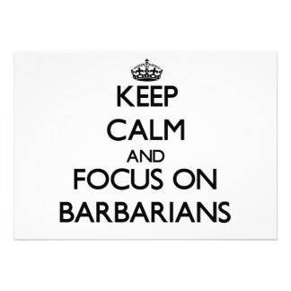 Keep Calm and focus on Barbarians Announcement