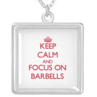 Keep Calm and focus on Barbells Custom Jewelry