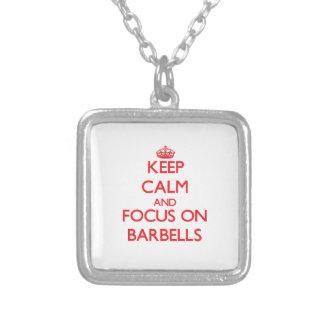 Keep Calm and focus on Barbells Pendants