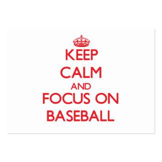Keep Calm and focus on Baseball Business Card Template