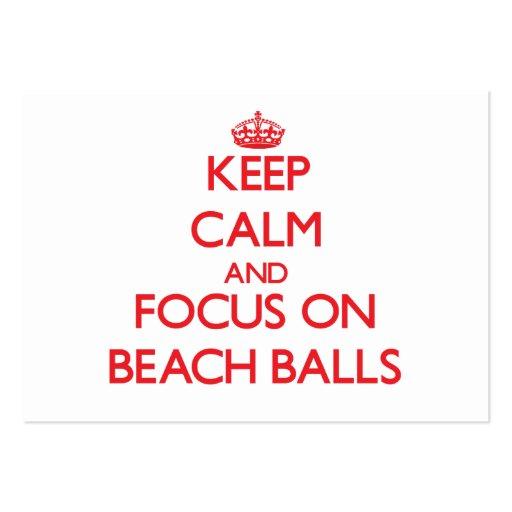Keep Calm and focus on Beach Balls Business Cards