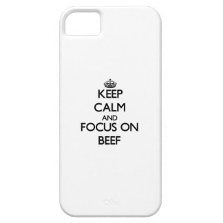 Keep Calm and focus on Beef iPhone 5 Case