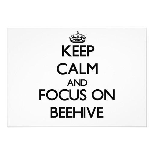 Keep Calm and focus on Beehive Custom Invitation