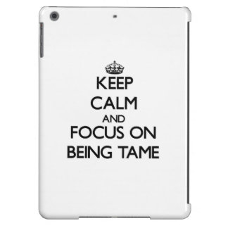 Keep Calm and focus on Being Tame Case For iPad Air