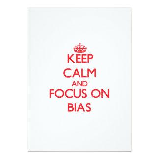 "Keep Calm and focus on Bias 5"" X 7"" Invitation Card"