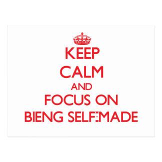 Keep Calm and focus on Bieng Self-Made Postcard