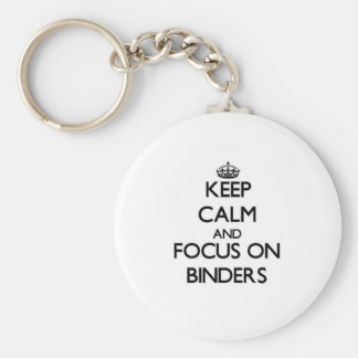 Keep Calm and focus on Binders Keychain