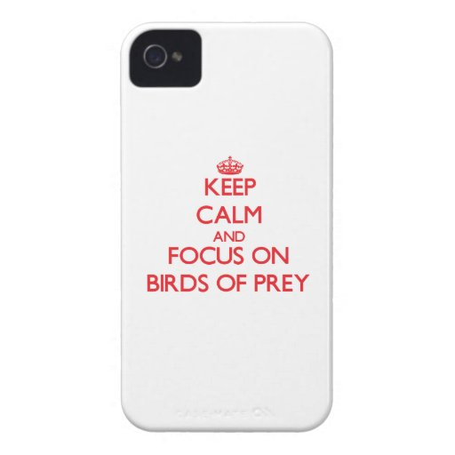 Keep calm and focus on Birds Of Prey iPhone 4 Cover