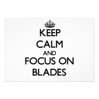 Keep Calm and focus on Blades Personalized Invites