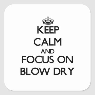 Keep Calm and focus on Blow Dry Sticker