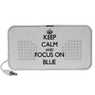 Keep Calm and focus on Blue Portable Speaker