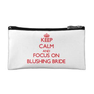 Keep Calm and focus on Blushing Bride Makeup Bag