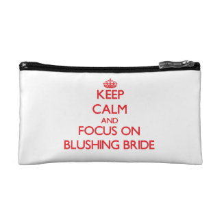 Keep Calm and focus on Blushing Bride Makeup Bag