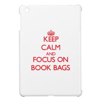 Keep Calm and focus on Book Bags iPad Mini Case