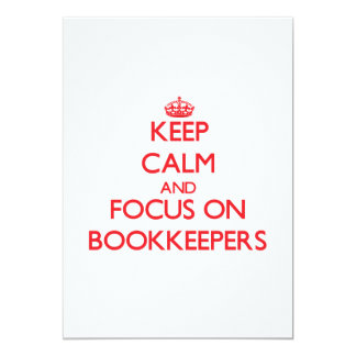 Keep Calm and focus on Bookkeepers Invite