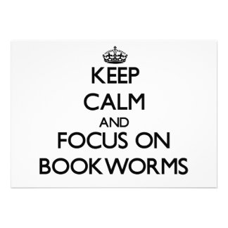 Keep Calm and focus on Bookworms Custom Invitation