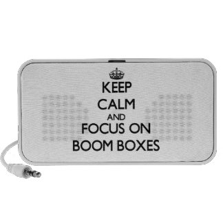 Keep Calm and focus on Boom Boxes Travelling Speakers