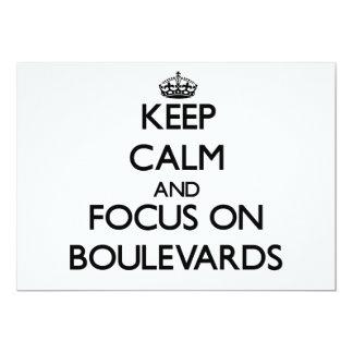 Keep Calm and focus on Boulevards 13 Cm X 18 Cm Invitation Card