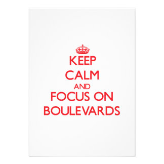 Keep Calm and focus on Boulevards Cards
