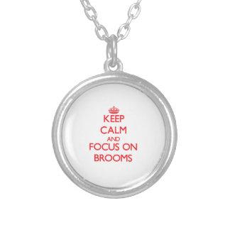 Keep Calm and focus on Brooms Custom Jewelry