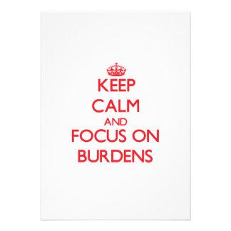 Keep Calm and focus on Burdens Custom Announcement