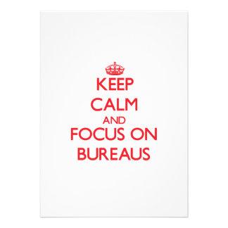 Keep Calm and focus on Bureaus Custom Invite