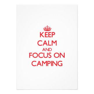 Keep Calm and focus on Camping Custom Announcement