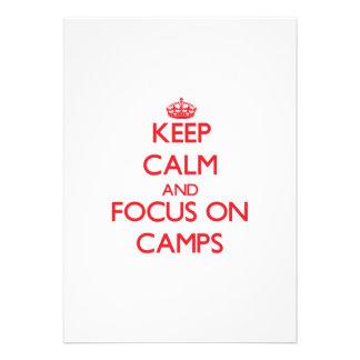 Keep Calm and focus on Camps Custom Invitation