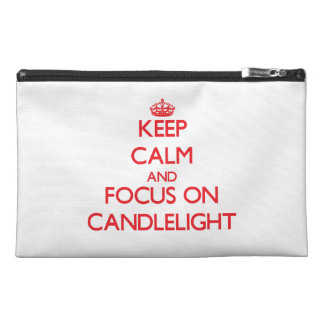 Keep Calm and focus on Candlelight Travel Accessories Bag