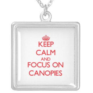 Keep Calm and focus on Canopies Custom Jewelry