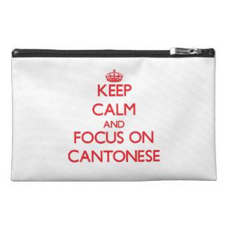 Keep Calm and focus on Cantonese Travel Accessories Bags
