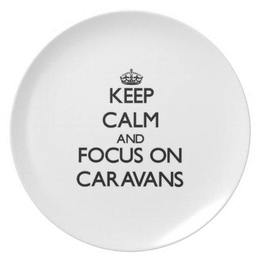Keep Calm and focus on Caravans Plates