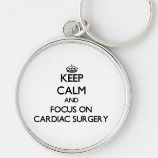 Keep Calm and focus on Cardiac Surgery Key Chains