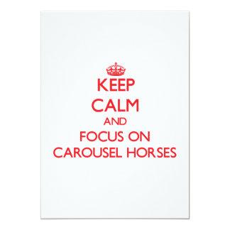 Keep Calm and focus on Carousel Horses Invites