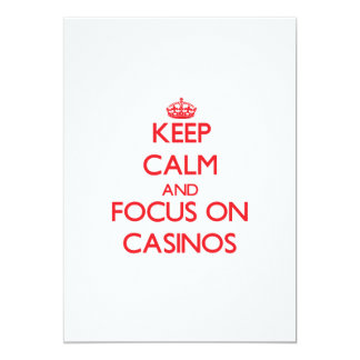 Keep Calm and focus on Casinos Card
