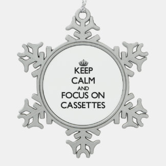 Keep Calm and focus on Cassettes Ornaments