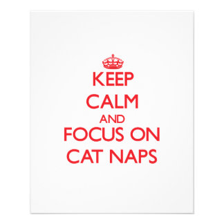 Keep Calm and focus on Cat Naps Full Color Flyer