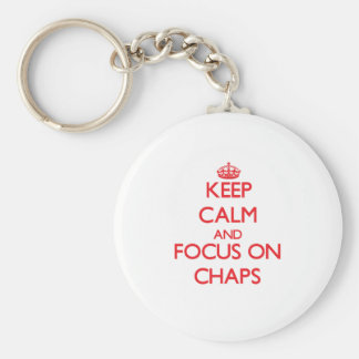 Keep Calm and focus on Chaps Keychains