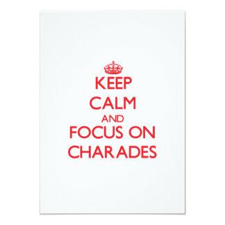 Keep Calm and focus on Charades 13 Cm X 18 Cm Invitation Card