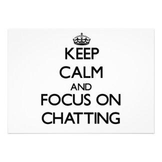 Keep Calm and focus on Chatting Custom Invites