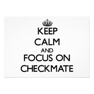 Keep Calm and focus on Checkmate Personalized Invitation