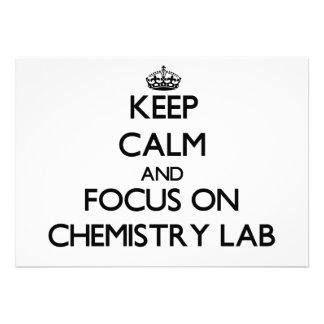 Keep Calm and focus on Chemistry Lab Custom Invite