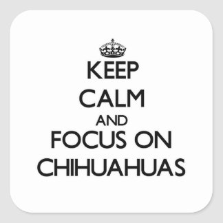 Keep Calm and focus on Chihuahuas Stickers