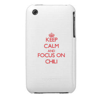 Keep Calm and focus on Chili iPhone 3 Cover