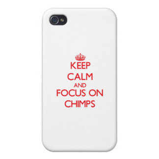 Keep Calm and focus on Chimps iPhone 4/4S Case