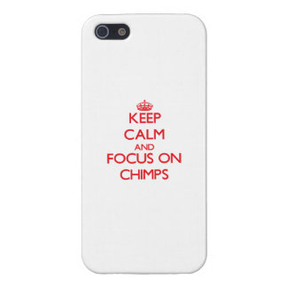 Keep Calm and focus on Chimps Case For iPhone 5/5S